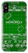 Monopoly Patent 1935 - Green IPhone Case