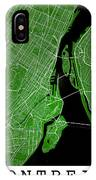 Montreal Street Map - Montreal Canada Road Map Art On Colored Ba IPhone Case