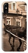 New Orleans - Bourbon Street Horse 3 IPhone Case