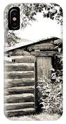 Old Log Homestead IPhone Case