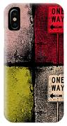 One Way Street IPhone Case