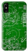 Padlock Patent 1935 - Green IPhone Case