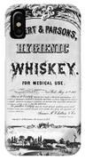 Patent Medicine Poster IPhone Case