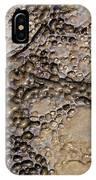 Patterns In Dolostone Coastal Rocks IPhone Case