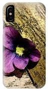 Peeking Violet IPhone Case
