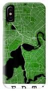 Perth Street Map - Perth Australia Road Map Art On Colored Backg IPhone Case