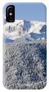 Pikes Peak Snow IPhone Case