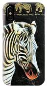Portrait Of A Zebra IPhone Case