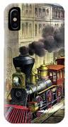 Railroad, 1874 IPhone Case