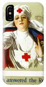 Red Cross Poster, C1918 IPhone Case
