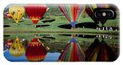 Reflection Of Hot Air Balloons IPhone Case