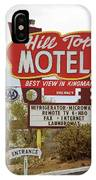 Route 66 - Hill Top Motel IPhone Case