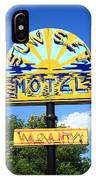 Route 66 - Sunset Motel IPhone Case