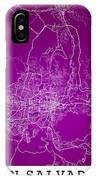 San Salvador Street Map - San Salvador El Salvador Road Map Art  IPhone Case