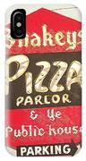 Shakey's Pizza IPhone Case