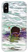 Snorkeling In The Lagoon Inside The Coral Reef IPhone Case