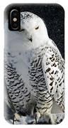 Snowy Owl On A Twilight Winter Night IPhone Case