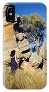 Split Rocks With Woman IPhone Case