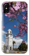 Spring Blossom And Memorial Clock IPhone Case