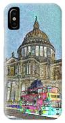 St Paul's Cathedral London Art IPhone Case