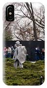 Statues Of Soldiers At A War Memorial IPhone Case
