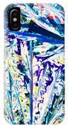 Tartaric Acid Crystals In Polarized Light IPhone Case