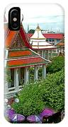 Temple Of The Dawn-wat Arun In Bangkok-thailand IPhone Case
