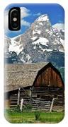 Teton Barn IPhone Case