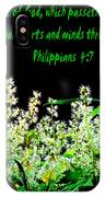 The Bible Philippians 4 IPhone Case