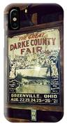 The Great Darke County Fair IPhone Case