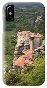 The Holy Monastery Of Rousanou Meteora Greece  IPhone Case
