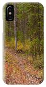 Trail In Golden Aspen Forest IPhone Case