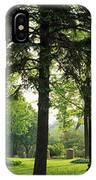 Trees In A Park, Adams Park, Wheaton IPhone Case