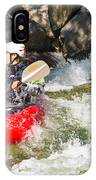 Two Whitewater Kayaks IPhone Case