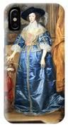 Van Dyck's Queen Henrietta Maria With Sir Jeffrey Hudson IPhone Case