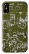 Vintage Military Vehicle Patent From 1942 IPhone Case