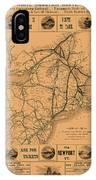 Vintage Train Ad 1887 IPhone Case