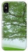 White Oak Tree In Fog IPhone Case