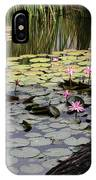Wild Water Lilies In The River IPhone Case