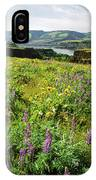 Wildflowers In A Field, Columbia River IPhone Case