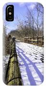 Winter On Macomb Orchard Trail IPhone Case