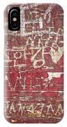 Wood Graffiti IPhone X Case