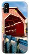 Wooden Covered Bridge  IPhone Case