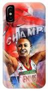 2012 Heptathlon Olympics Gold Medal Jessica Ennis  IPhone Case