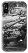 2013 Ford Shelby Mustang Gt 5.0 Convertible Bw  IPhone Case