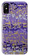 2014 14 Hebrew Text Of Psalms Chapter 36 In Purple Silver And Gold IPhone Case