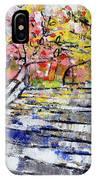 2014 19 Silver And Blue Stairs To Pink And Yellow Woods Srpsko Sarajevo IPhone Case