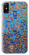 2014 20 Psalms 20 Hebrew Text Of In Blue And Other Colors On Gold  IPhone Case