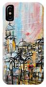 2014 23 City Street With Church At Sunset Srpsko Sarajevo IPhone Case