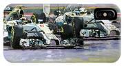 2014 F1 Mercedes Amg Petronas  Lewis Hamilton Vs Nico Rosberg IPhone X Case